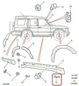 ( 1 ) GENUINE LAND ROVER DDZ100000 FINISHER-Front RH Body 1998-2004 Discovery