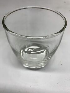 """Braniff Airlines Glass 3"""" x 3.5"""" - USED"""