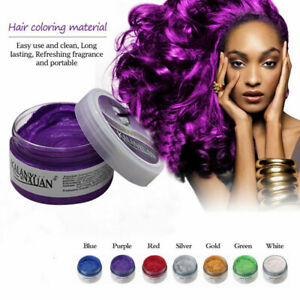 Unisex DIY Hair 9 Colour Wax Mud Dye Cream Temporary Painting Modeling Styling