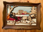 Vintage+1960%E2%80%99s+Syroco+3D+Wall+Plaque+A+WINTER+RIDE+Faux+Wood+Carved+Look