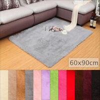 Non-Slip Long Wool Fluffy Rug Shaggy Carpet Home Room Bathroom Kitchen Floor Mat