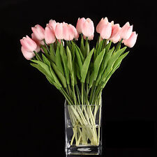10pcs Tulip Flower Latex for Wedding Bouquet Decor (pink tulip) ED