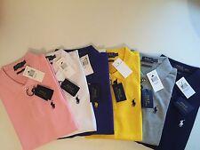 Hüftlange Kurzarm Damen-T-Shirts unifarbene Ralph Lauren