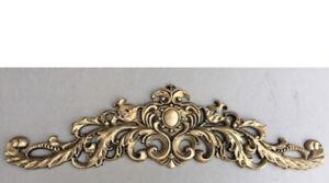 Large Ornate decorative pediment Painted Antique Gold Embellisjment