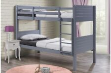 Fabulous Creative Space Saving Bunk Beds Attractive Grey Finish 3FT Single Bunks