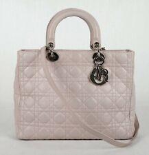 Christian Dior Lila Leder Groß Damen Dior Schultertasche mit Schulterriemen