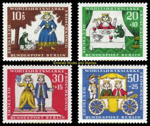 EBS Berlin 1965 Grimms' Fairy Tales (III) Frog Prince Michel 295-298 MNH**