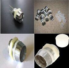 Portaled 10 mm in ABS cromato 10 pezzi portalampada fissaggio LED 10 MM