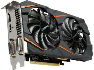 Gigabyte NVIDIA GTX 1060 6GB GDDR5 PCI-E, Black, Graphics Card, Used