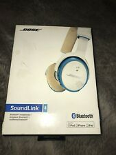 Bose SoundLink On-Ear Bluetooth Wireless Headphones (White and Blue)