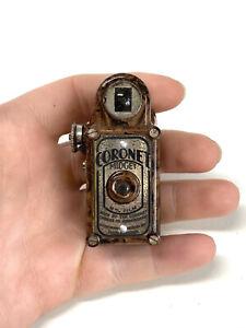 A Cool Rare Antique Victorian Birmingham Bakelite Coronet Midget Camera Cased