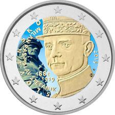 2 Euro Gedenkmünze Slowakei 2019  coloriert mit Farbe / Farbmünze Milan Štefánik