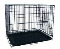 """30"""" Dog Kennel Cage With Bottom Grate, Black"""