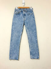 Vintage Usa Levis 501 Button Fly blue Jeans Mom indigo Acid wash 80s punk slim