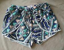 Valley Girl size 8 pom pom summer shorts designer
