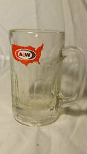 """A&W ROOT BEER Large Stein Mug from Restaurant- Made in USA- GLASS 6"""" Tall"""