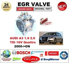 FOR AUDI A3 1.9 2.0 TDi 16V Quattro 2000> Pneumatic EGR VALVE with GASKETS/SEALS