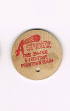 Vintage Wooden Nickel A Sports 6 Locations Downtown Miami featuring Nike