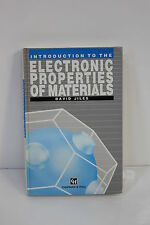 INTRODUCTION TO ELECTRONIC PROPERTIES OF MATERIALS JILES HARDCOVER (S3-2-36E)