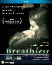 """Jean-Paul Belmondo """"Breathless"""" Jean Seberg HK Region  A Blu-Ray"""