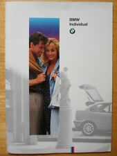 BMW Individual orig c1993 UK Market brochure - 3 5 7 8 Series 850 CSi