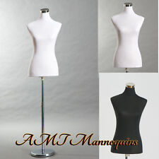 "Female dress form, 34""26""35"" +2(black/white)nylon jerseys,+stand, torso Pb-88"