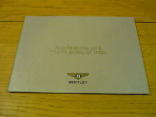 Rare BENTLEY CONTINENTAL GT & GT SPEED PRESS BROCHURE 2007  jm