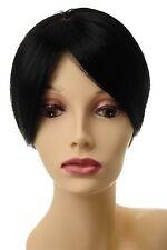Toupet Haarteil Haarersatz Aufsatz Haarauffüller Clip-In Schwarz L008-1