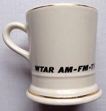 1960s WTAR 790 AM 95.7 FM TV CHANNEL 3 COFFEE MUG, JACK STEELE, NORFOLK, VA