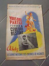 Affiche, colonies de vacances , ministere de la santé publique , par Bleuer 206