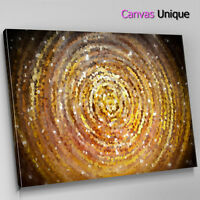 AB1400 yellow gold modern circle Abstract Wall Art Picture Large Canvas Print