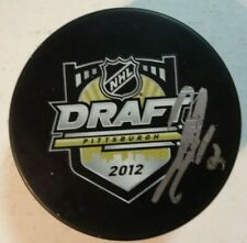 Autographed PAUL LADUE Signed 2012 NHL Draft Los Angeles Kings Hockey Puck