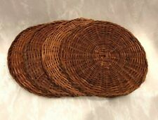 Vintage ~ Woven Cane Drink Coasters Set Barware ~ Deceased Estate Collectable