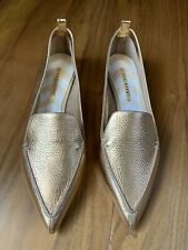 KIRKWOOD Botalatto Metallic Leather Loafers 38