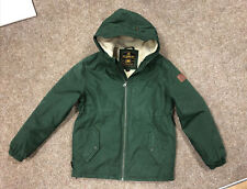 Element Boys Parka Jacket, Age 12-14, Green, Sherpa Lined, Genuine, Free P&P