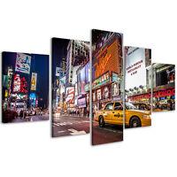 Quadri Moderni 200 x 90 cm Stampe su Tela XXL Quadro Times Square New York #082
