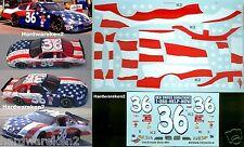 NASCAR DECAL #36 9/11 PATRIOTIC FLAG SCHEME 2001 DOVER PONTAIC GRAND PRIX -#WW45