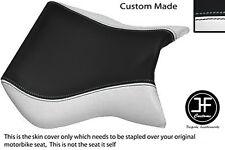 Negro Y Blanco Vinilo se ajusta Cagiva Mito Personalizado 125 95-07 frente cubierta de asiento solamente