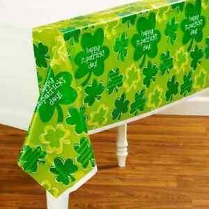 Playful Shamrocks Clover St. Patrick's Day Holiday Party Decoration Tablecover