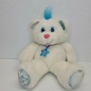 Vintage 1992 Applause Toys Magic Glow Friend Bear White Blue Plush 40471