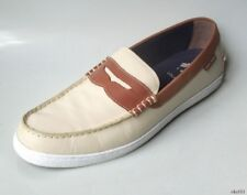 new mens COLE HAAN Nantucket beige/brown leather penny loafers slip-on shoes 12