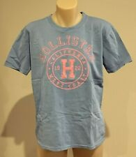 Abercrombie & Fitch HOLLISTER T-SHIRT Womens Blue Logo Tee Top Size M NWT