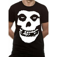 Official Misfits Fiend Skull Logo Black Unisex T-Shirt Licensed Tee