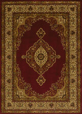 """Red 2x7 Scrolls Traditional Medallion Runner Rug: Actual Size 1' 11"""" x 7' 2"""""""