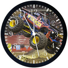 Big Truck Black Frame Wall Clock Nice For Decor or Gifts E284