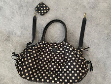 Kate Spade Diaper Bag Black White Polka Dot with mini coin purse