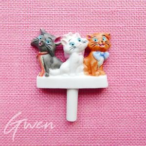 Feve Disney Les Aristochats Chat Pique a Gateau Biscuit Porcelaine Miniature