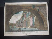 1780 Vue D'optique Daumont Roma Veduta di un Superbo Palazzo da Piranesi