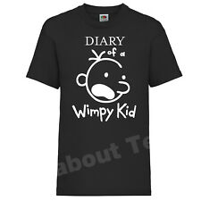 The Diary of a Wimpy Kid T-SHIRT Books Movie Jeff Kinney Inspired WORLD BOOK DAY