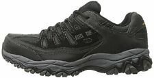 Skechers Mens Crankton Steel toe Lace Up Safety Shoes, Black/Charcoal, Size 10.0